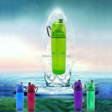 BPA Free Plastic sport water mist bottle with 500ml Capacity, Available in Various Colors