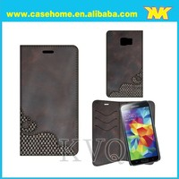 dark grey color for nokia x2 case , unique design leather wallet case for huawei honor 7