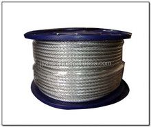 PVC/PE Nylon coated stainless steel wire rope/cable