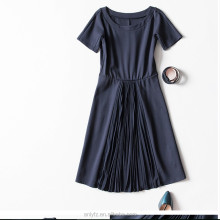 wholesale cheap bandage dress slim waist round collar short sleeve dress fashion women apparel online shopping