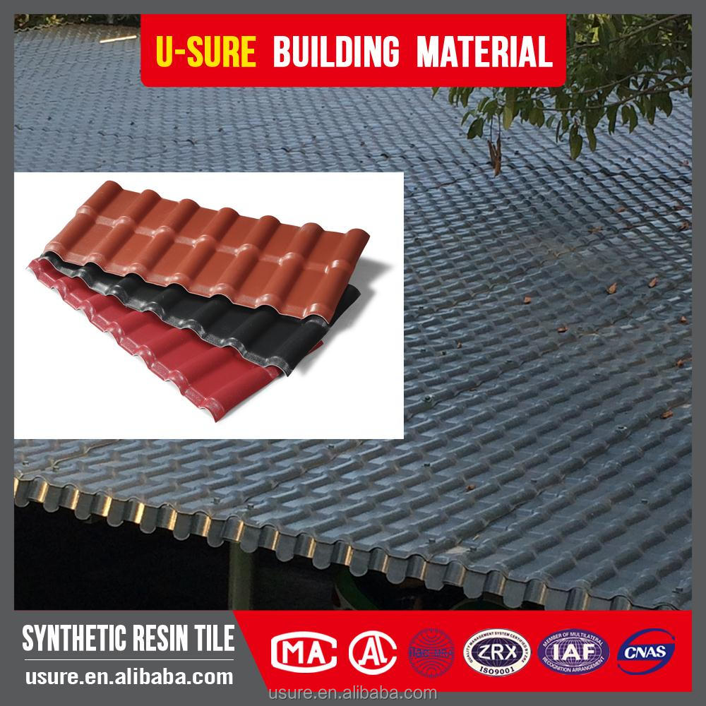 Alibaba india UV coating soundproof material resin upvc roof tiles