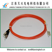 China manufacturer multimode duplex 3.0mm 3mts PVC LC to FC patch cord
