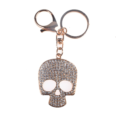 Gold Metal Skull Face Keyring Promotion Keyring