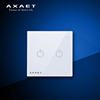 AXAET new products double poles Bluetooth light smart wall switch for home automation