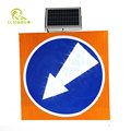 Best price waterproof aluminum solar LED powered traffic warning sign
