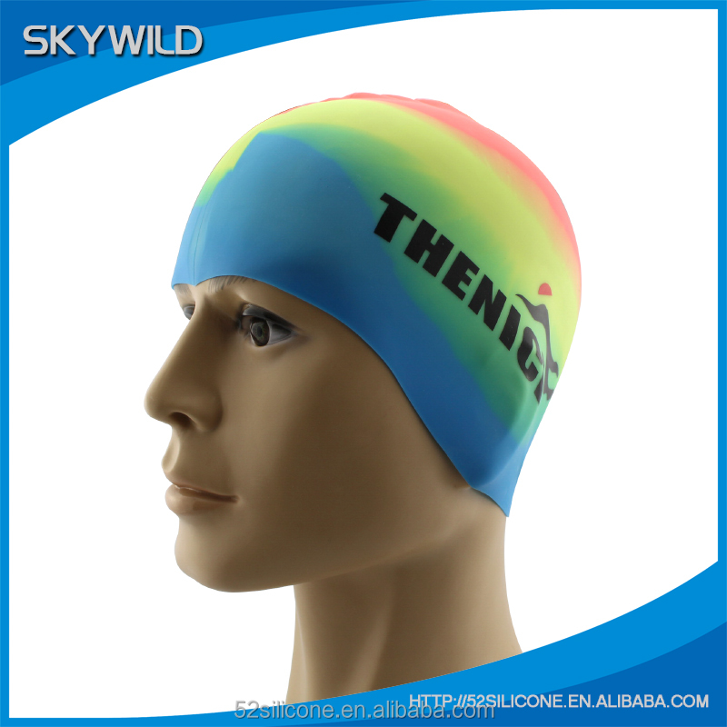 Water Sports Long Hair Silicone Swimming Cap Silicone Hat