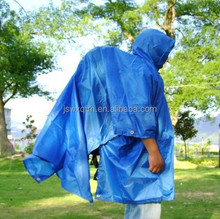 Raincape Rain poncho rubber PVC raincape custom hooded long raincoat