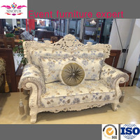 Royal solid wood frame model arab sofa