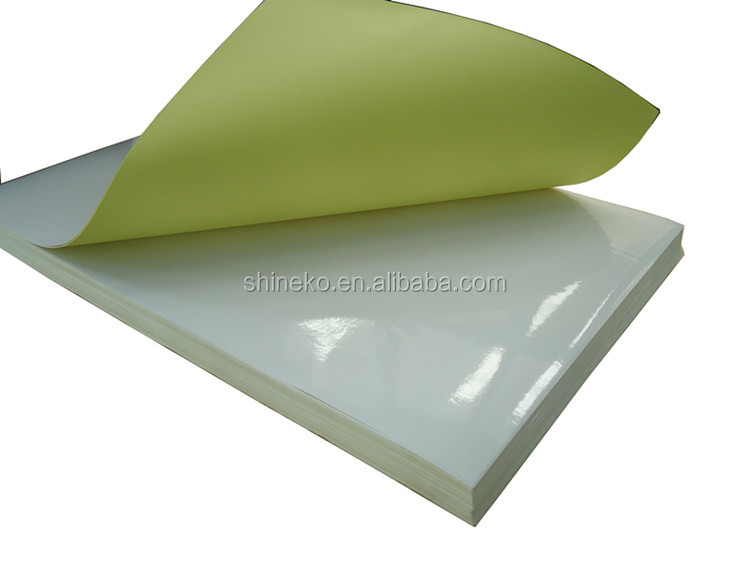 yellow liner waterbased self adhesive cast coated paper
