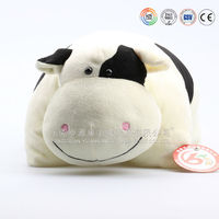 Animal blanket/plush animal pillow blanket