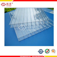 Double-wall Hollow Sheet polycarbonate twin wall policarbonato panel for roofing cover with factory price