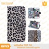 BRG sexy leopard print book style leather case for iphone 6 mobile phone