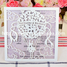 Arabic laser cut wedding cards lowest price hot air ballon greeting card 2017 newest products