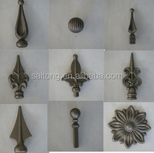 Wrought Cast iron forging iron gate ornamental cast iron spearhead