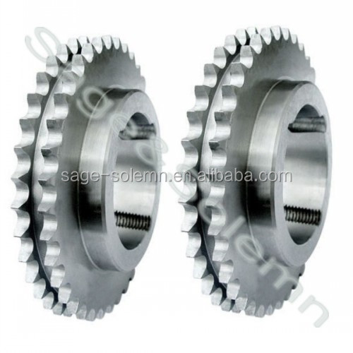 DIN 8187 Standard Material C45 Industrial Double Taper Lock Sprockets / Taper Bushed Sprocket