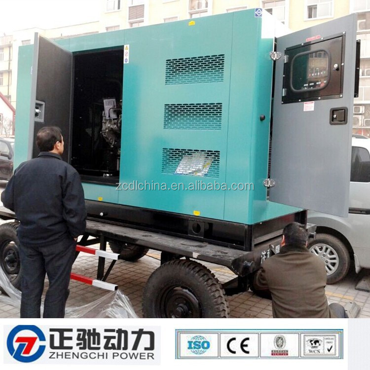 380/220V, 50HZ Portable type 200KVA carrier genset powered by UK Perkins engine