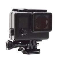 GoPros Accessories Blackout Skeleton Housing Case for GoPros Heros 4 3+ 3 Side Open Protective Housing Case