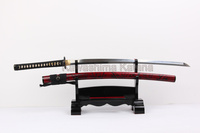 2014 new saya painting bamboo clay-tempered carbon steel 1095 Japanese samurai sword katana with real hamon