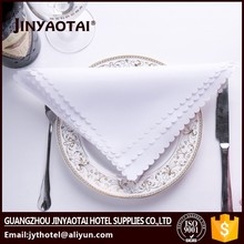 home hot sale customized round hand hemstitch embroidery napkins