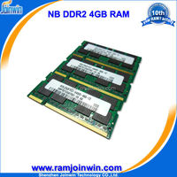 Low density ETT chips best price ddr2 4gb memory for notebook