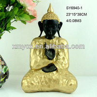 Antique brass color buddha statues