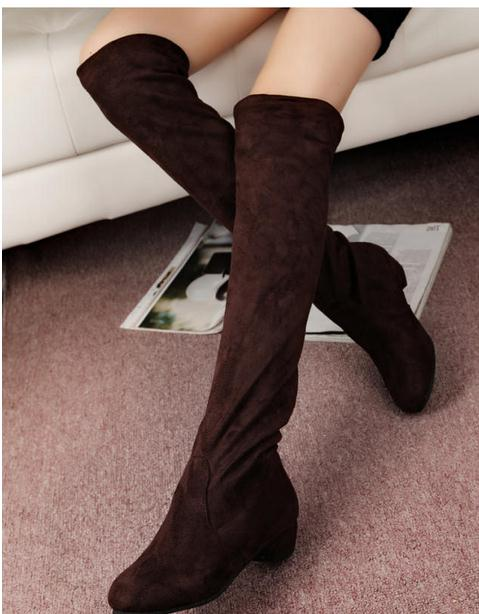 New winter boots super long knee-high shoes flat lady fashion women boots