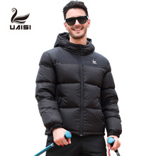 Clothing 2018 Goose Short Black Down Winter Jacket For Men