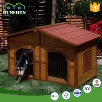 Large Wooden Dog House Dog House Igloo Awesome Two rooms Dog Houses