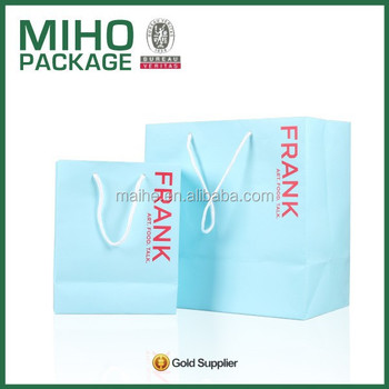 High quality customized paper rope handle bag