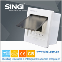 GNB3004 Recessed plastic and metal power electrical distribution box