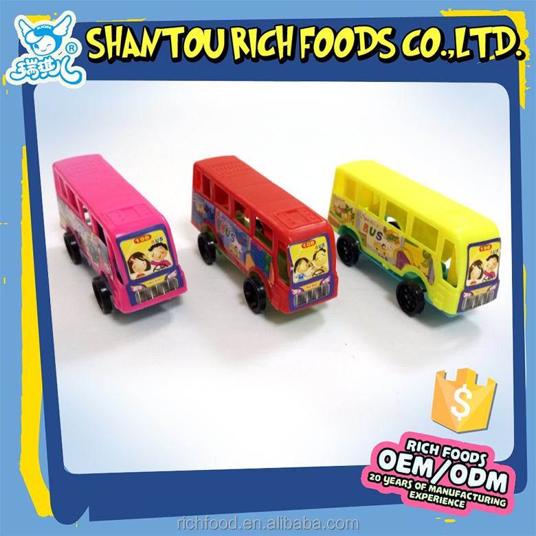 good taste colorful mix fruit gummy candy brands with bus shape toys