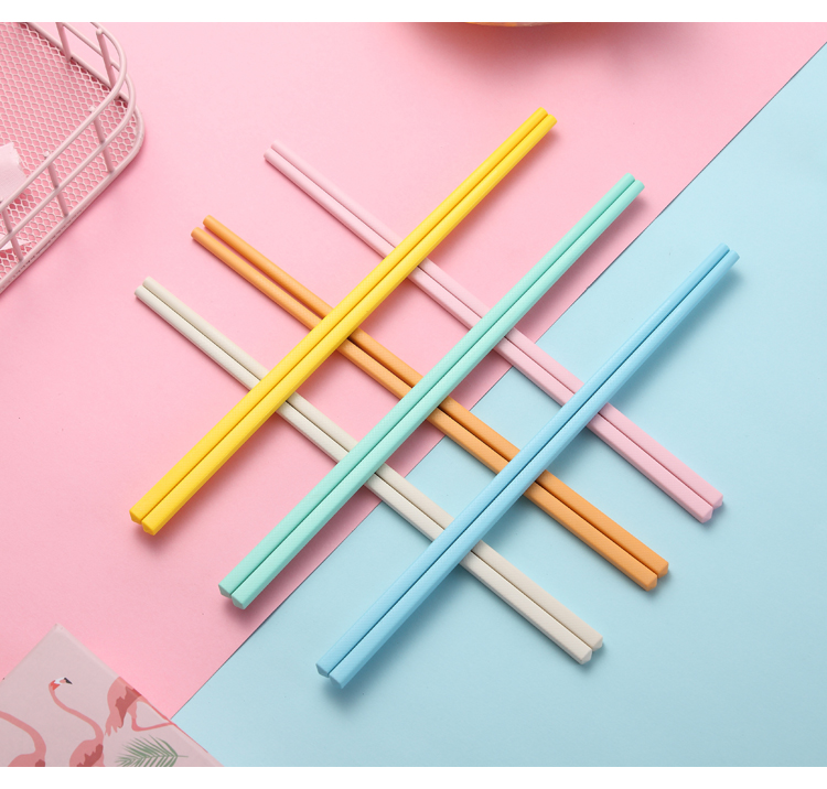 Wholesale Reusable Chinese Chopsticks, Color Chopsticks, Plastic Fiberglass, Dishwasher Safe, FDA, 24cm