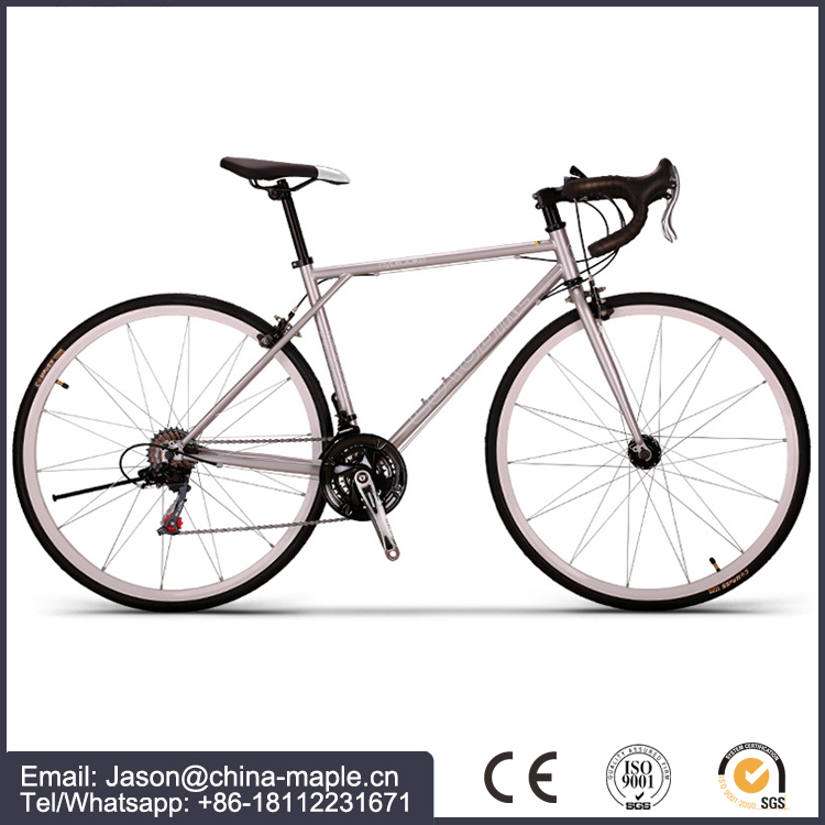 China brand chromoly 700c 21 gear Road Bike with Curved handle