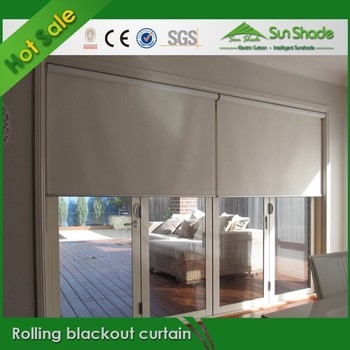 Hot Sales Motorized Remote Control Rolling Blackout Curtains Buy Roller Blackout Curtains