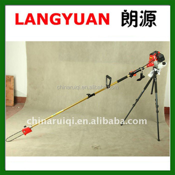 Long reach pole saw tree trimmer