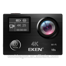 Original EKEN V8S Ultra HD Action Camera with Ambarella A12 chip 4k/25fps 1080p/60fps EIS go waterproof pro sport Camera