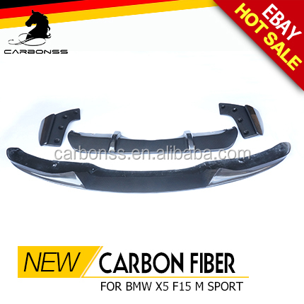 CARBON FIBER FRONT BUMPER BODYKIT PACKAGE REAR DIFFUSER FOR BMW X5 F15 M SPORT 2015+