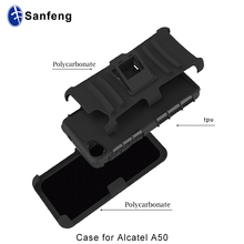 China supplier rugged belt clip case with kickstand for Alcatel A50 Crave phone cover