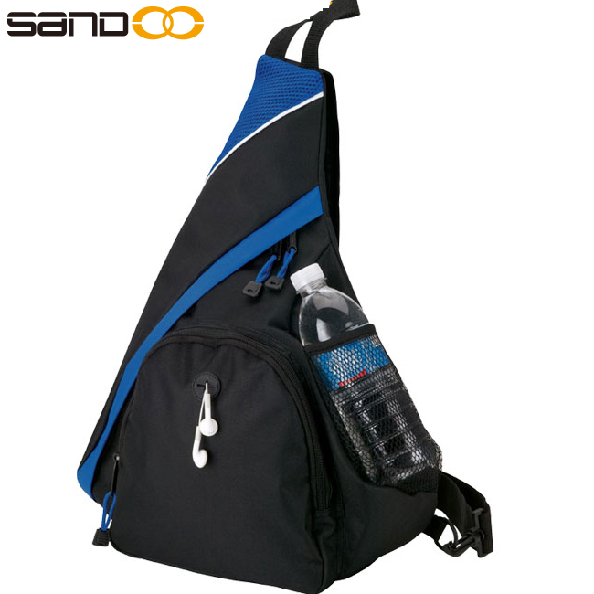 Wholesale fashion triangle sling bag, hiking travel backpack with one strap