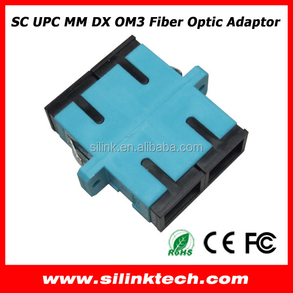 SC Duplex multimode OM3 fiber optic adapter
