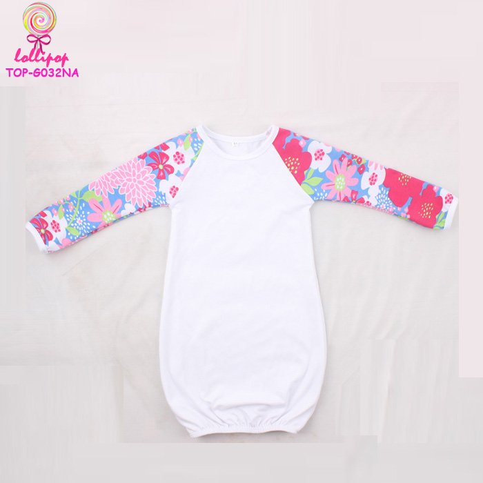 Baby night dressing gown girl print sleep wear Romper beautiful dress Children icing raglan Wholesale Kids Jumper Gowns