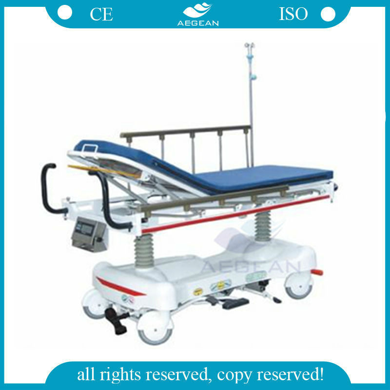 AG-HS006 Luxurious Weighing Type hydraulic Emergency patient bed