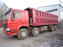 Used CNHTC Howo 25t-60t dump truck in shanghai second hand CNHTC Howo 25t 4*2 dump truck year 2010 for sale