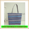 2015 new style pvc canvas shopping bag leisure shopping tote bag cheap canvas shoulder bag with beautiful pattern