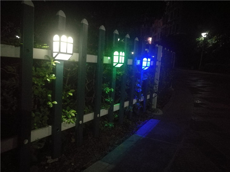 solar garden light in fireproof design led solar fence lamp energy saving power romantic lightening