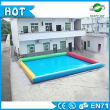 0.6mm PVC intex inflatable pool slide for adult inflatable swimming for kids, 10*8m big sized
