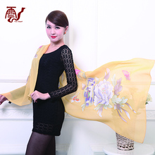 2017 Fashionable Japanese Silk Organza Silk Scarf Women