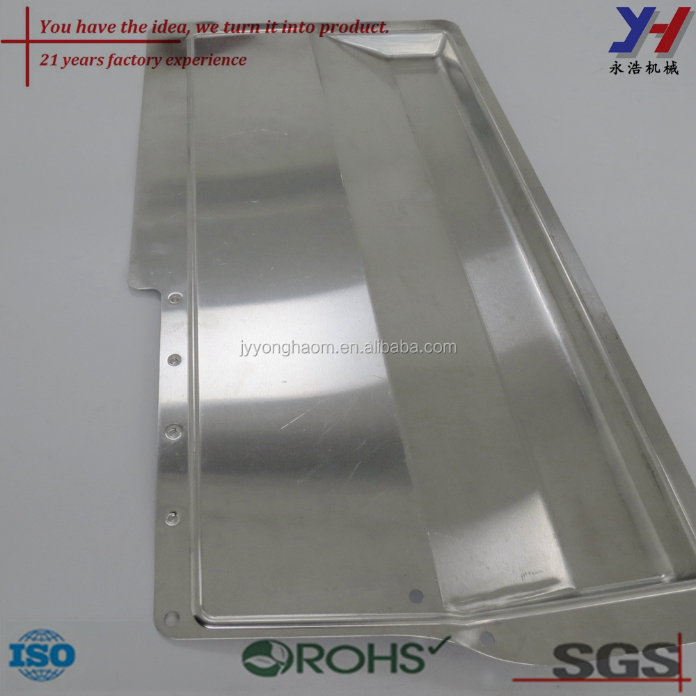 Custom made stainless steel flat plate mirror serving tray