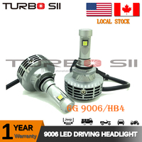 Local Delivery! 6G led headlight kit all in one car 12-24v DC 6000LM with no fan waterproof IP67 led headlight