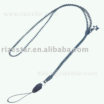 fashion mobile holder lanyard with zipper